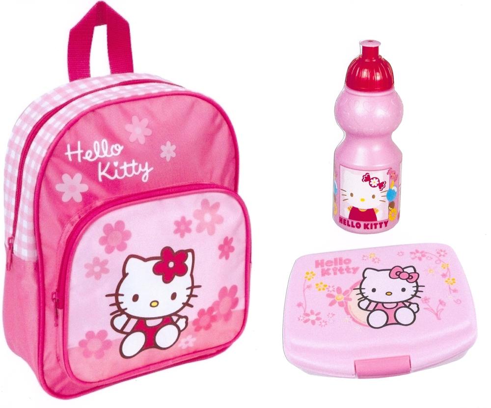 hello kitty rucksack brotdose trinkflasche 3 t set kindergartentasche neu ebay. Black Bedroom Furniture Sets. Home Design Ideas