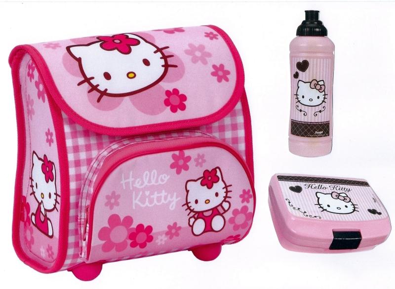 hello kitty vorschulranzen kindergartentasche rucksack brotdose trinkflasche ebay. Black Bedroom Furniture Sets. Home Design Ideas